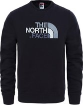 The North Face Drew Peak Crew Heren Outdoortrui - TNF Black - Maat L