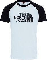 The North Face S/S Raglan Easy Tee - Eu Shirt Heren - Tnf White / Tnf Black