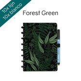 Greenstory GreenBook  - Uitwisbaar Notitieboek - A5 - Lijn  - Forest Green