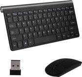 Gologi® - Toetsenbord en muis - Draadloos - USB Connector - Apple - Android - QWERTY Draadloze Toetsenborden - Wireless Keyboard & Mouse - Zwart