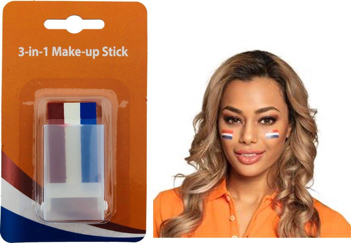 Make-up Stick - Schminkstift - Schminkstick -  Rood Wit Blauw - EK2021