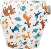 HappyBear - Zwemluier Bosdieren | 0-3 jaar - Wasbaar - Onesize