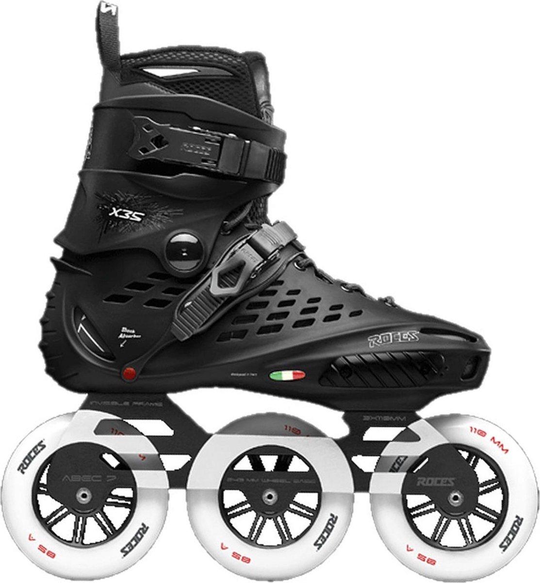 Roces X35 3x110 TIF Inline Skate Inlineskates - Maat 42 - Unisex - zwart/wit