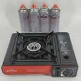 Homelux- campingkookstel - draagbaar gasfornuis - portable gas stove - 1 kookpit.