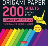 Origami Paper 200 sheets Rainbow Colors 6  (15 cm): Tuttle Origami Paper