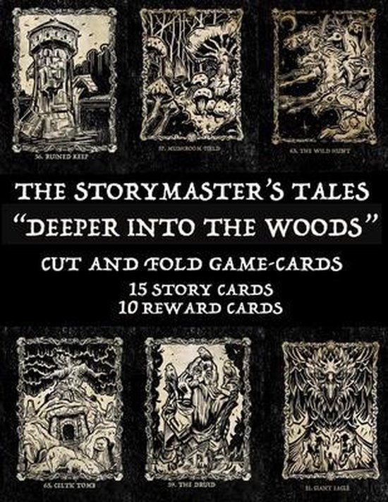 """The Storymaster's Tales """"Deeper into the Woods"""": Cut and Fold Game-cards"""