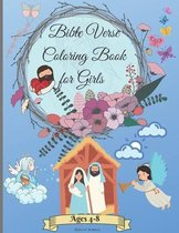 Bible verse coloring book for girls ages 4-8: Amazing Christian Coloring Book for Girls 3-5 4-6 6-8 with Inspirational & Motivational Short Psalms for