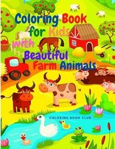 Coloring Book for Kids with Beautiful Farm Animals