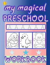 my magical preschool workbook: pratice line tracing, Word Search, Coloring for kids, Picture Puzzles, and More!