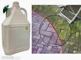 groene aanslag verwijderaar - zeer krachtig groene aanslagreiniger- - sproeikop - 5 LITER - terrassen - opritten - daken - tuinmeubelen - gevels - gebruiksklaar
