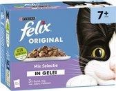 Felix Original Mix Selectie in Gelei 7+ Jaar - Kattenvoer - 48 x 85g