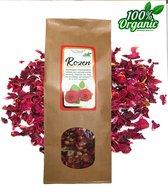 Gedroogde Rozen blaadjes en bloemen 100 gr - Biologisch - Thee - Potpourri - Pure Naturals
