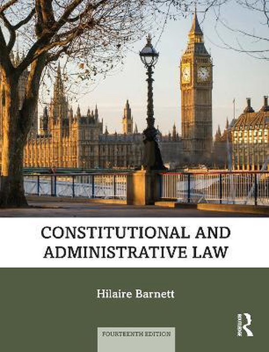 Boek cover Constitutional and Administrative Law van Hilaire Barnett (Paperback)