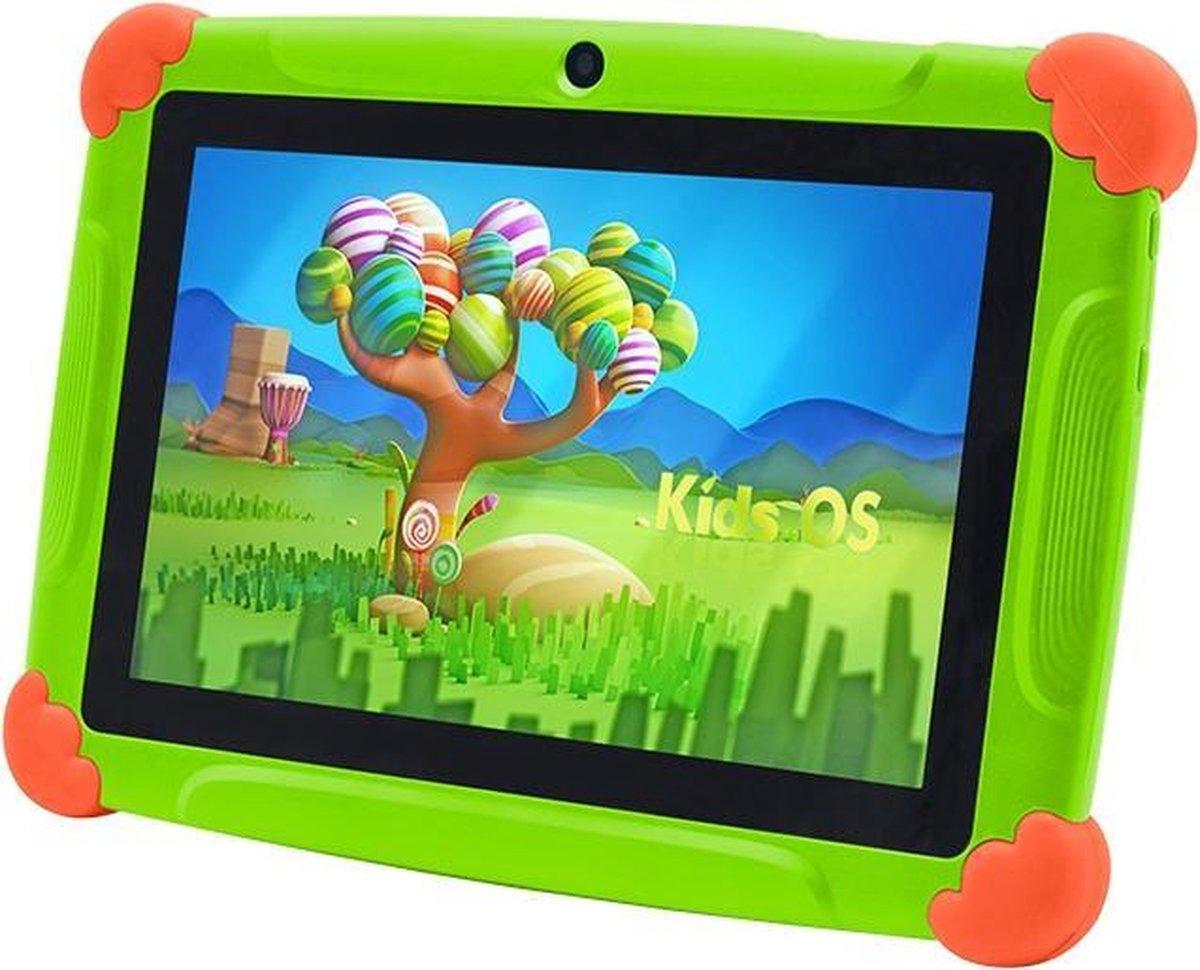 Kindertablet Pro Groen - Tablet 7 inch - 32 GB opslag - Kinder tablet - kindertablet vanaf 3 jaar - tablets kinderen - kids tablet - Scherp HD beeld - leerzame voor kinderen - Wifi Bluetooth - voor-achter camera - Play store - uitstekende batterij