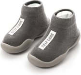 Antislip baby schoentjes - eerste loopschoentjes – Completebabyuitzet - maat 22,5 - 12-18 maanden – 13.5 cm - Grijs