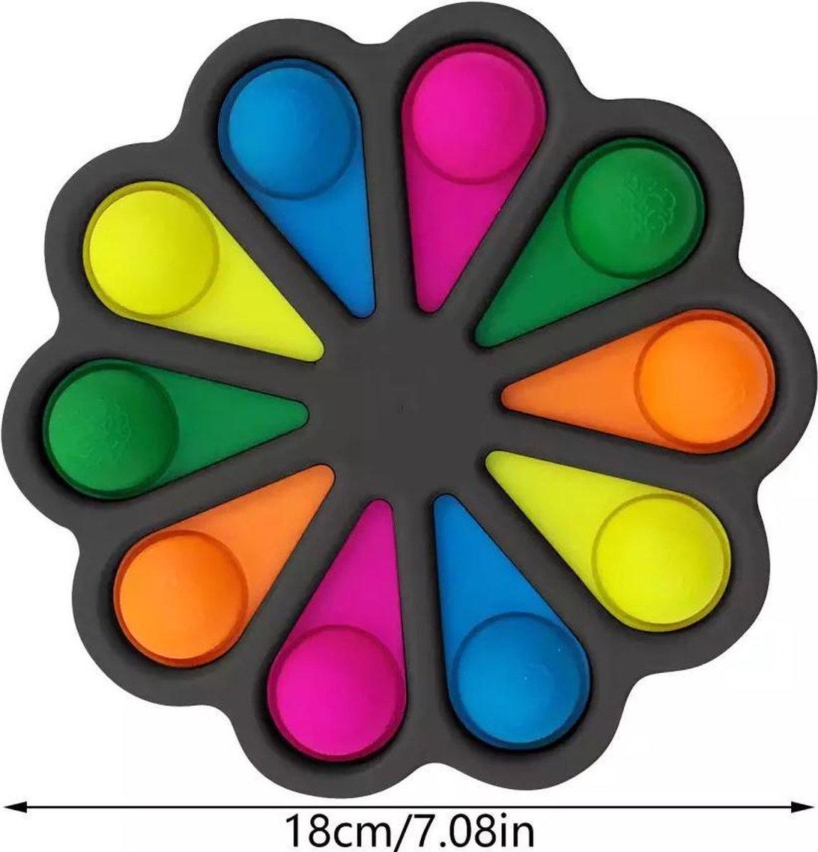 Dimple Digits -Fidget toys-Simple dimple-mega grote-tiktok-zwart