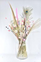 Droogbloemen - 70 cm - White - Natuurlijk Bloemen
