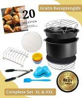 Onevida - Heteluchtfriteuse XL & XXL accessoireset   Complete Set   universeel   Incl e-book met 20 heerlijke recepten