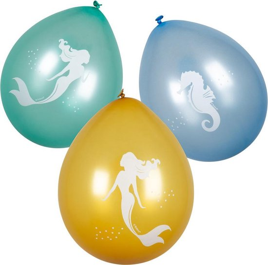 Boland - Decoratie > Ballonnen - Zeemeermin Latex Ballonnen 25cm 6 stuks