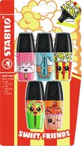STABILO BOSS MINI - Markeerstift - Sweet Friends Edition - Blister Met 5 Kleuren