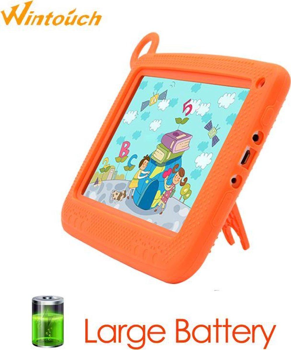 Kindertablet Pro Oranje - Tablet 7 inch - 16 GB opslag - Kinder tablet - Android 8.1 - vanaf 3 jaar - tablets kinderen - kids tablet - Scherp HD beeld - leerzame voor kinderen - Wifi Bluetooth - voor-achter camera - Play store - uitstekende batterij