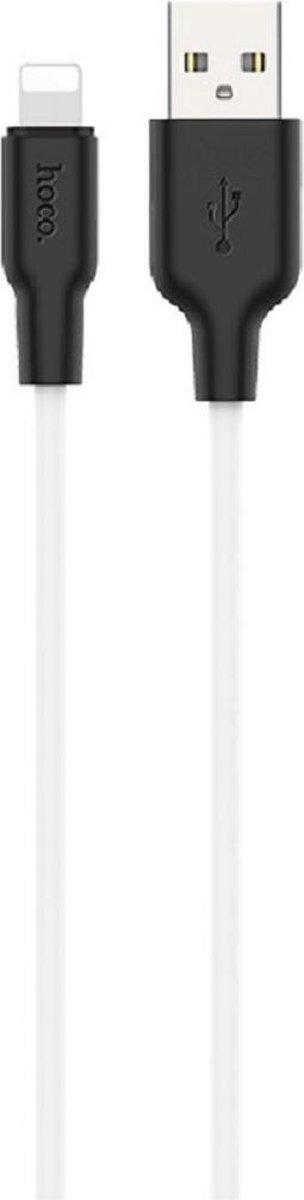 HOCO X21 Plus Silicone - USB-C naar Lightning - PD 20W Oplader Kabel - Voor Apple iPhone 12 - Wit
