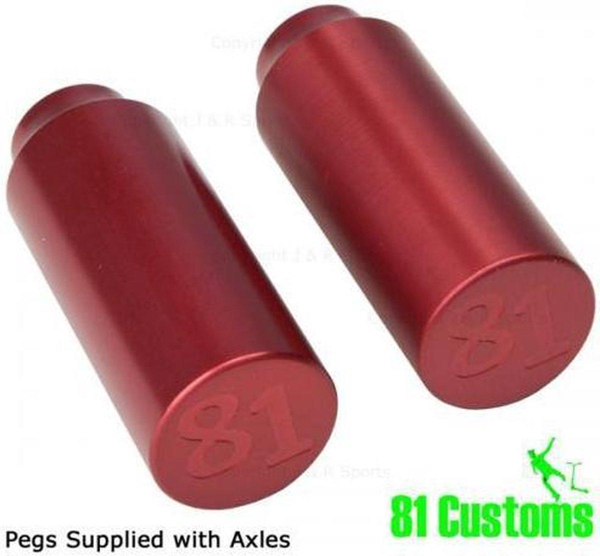 Pegs 81 Custom - Red stunt step (2 stuks)