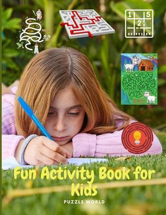 Fun Activity Book for Kids - Workbook Game For Learning, Coloring, Dot To Dot, Mazes, Word Search and More!