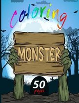 coloring monster: monster coloring book for kids