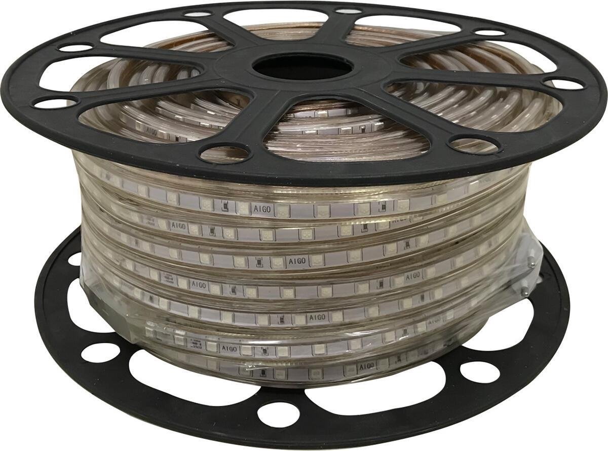 LED Strip - Igan Strabo - 50 Meter - Dimbaar - IP65 Waterdicht - Groen - 5050 SMD 230V