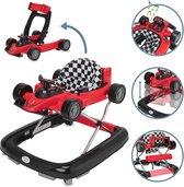 ib style® LITTLE RACER 2 in 1 Loopstoel | Loopwagentje | met afneembare racewagen | met lichtjes en melodieën| EN 1273:2005 | ROOD