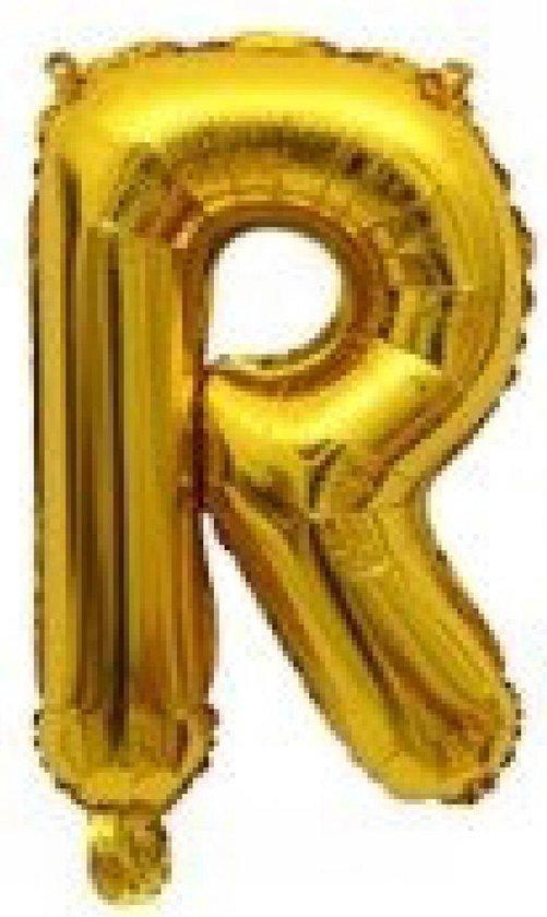 Folieballon / Letterballon Goud  - Letter R - 41cm