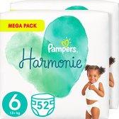 Pampers Harmonie Maat 6 (13kg+) - Voordeelverpakking  2 x 52 Luiers
