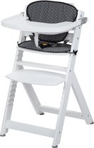 Safety 1st Timba with Cushion - White Wood/Geometric