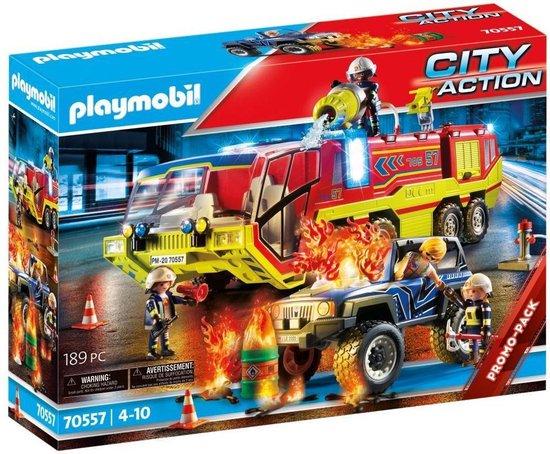 PLAYMOBIL City Action Brandweer met brandweerwagen - 70557