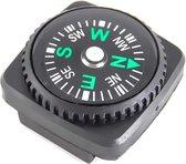 Kompas - Mini compas - Met rubberen bevestigingsring - Zwart