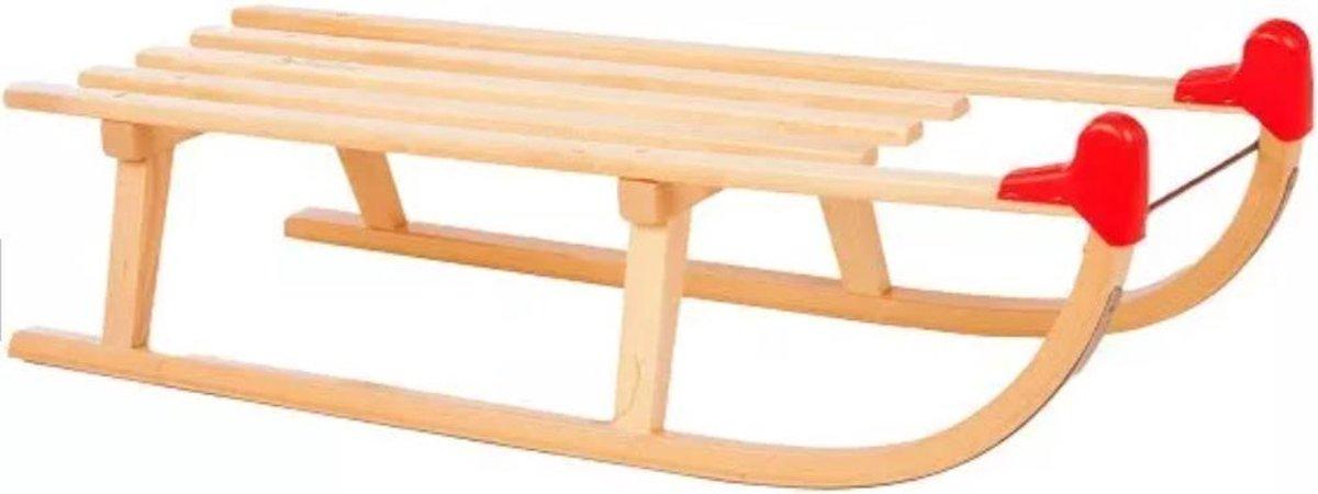 Slee hout model 'Davos' 100cm + ruglening