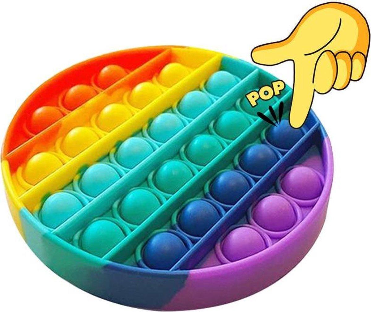 LUVIQ Pop It Fidget toy - Regenboog - Ronde vorm - Multi colour - LUVIQ