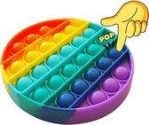 LUVIQ Pop It Fidget toy - Regenboog - Ronde vorm - Multi colour