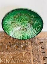Tamegroute schaal | Groen | Marokkaanse Aardewerk | Salade Schaal | Fruitschaal ø 25 cm