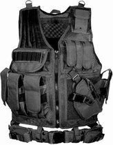 WiseGoods Tactical Vest - Airsoft Kleding Accessoires - Paintball - Beschermvest - Outdoor - Leger - Zwart