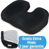 Lifetec Premium ® Stuitkussen Cool - Ergonomisch Zitkussen - Wigkussen - Extra Hoes