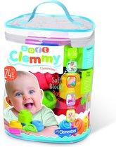 Clementoni Baby Clemmy tas met 24 zachte speelblokken