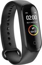 M4 -Stappenteller - Activity Tracker - Calorieënmeter - Hartslagmeter - Sport horloge - Zwart - Smart Bracelet - IOS & Android - Voor Heren en Dames