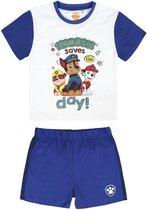 Nickelodeon Paw Patrol- jongens - kleuter/kinder - Shortama - 100% Jersey katoen- blauw/wit