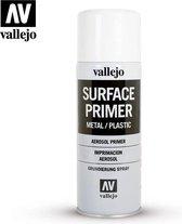 Vallejo 28010  White Primer - Spray - 400ml Verf spuitbus