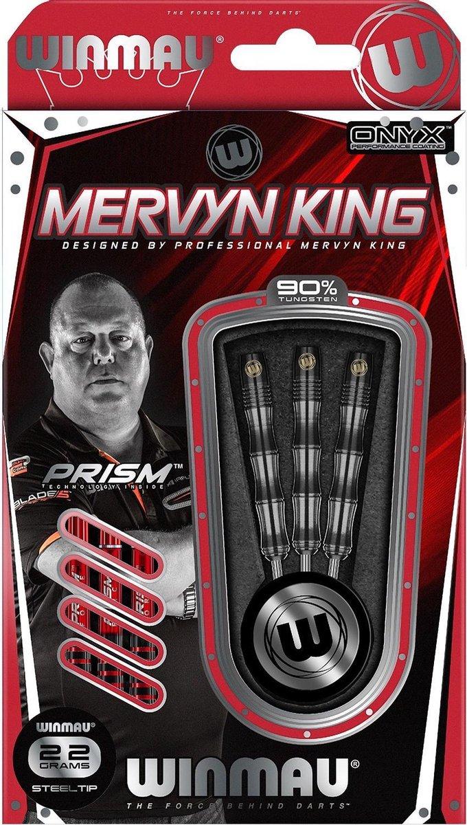 Winmau Mervyn King steeltip dartpijlen PVD grip - 22 gram