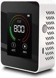 OHOME® CO2 meter - Luchtkwaliteitsmeter - CO2 meter binnen - CO2 melder & monitor - Thermometer - CO2 detector - Koolstofdioxide meter - draagbaar en oplaadbaar