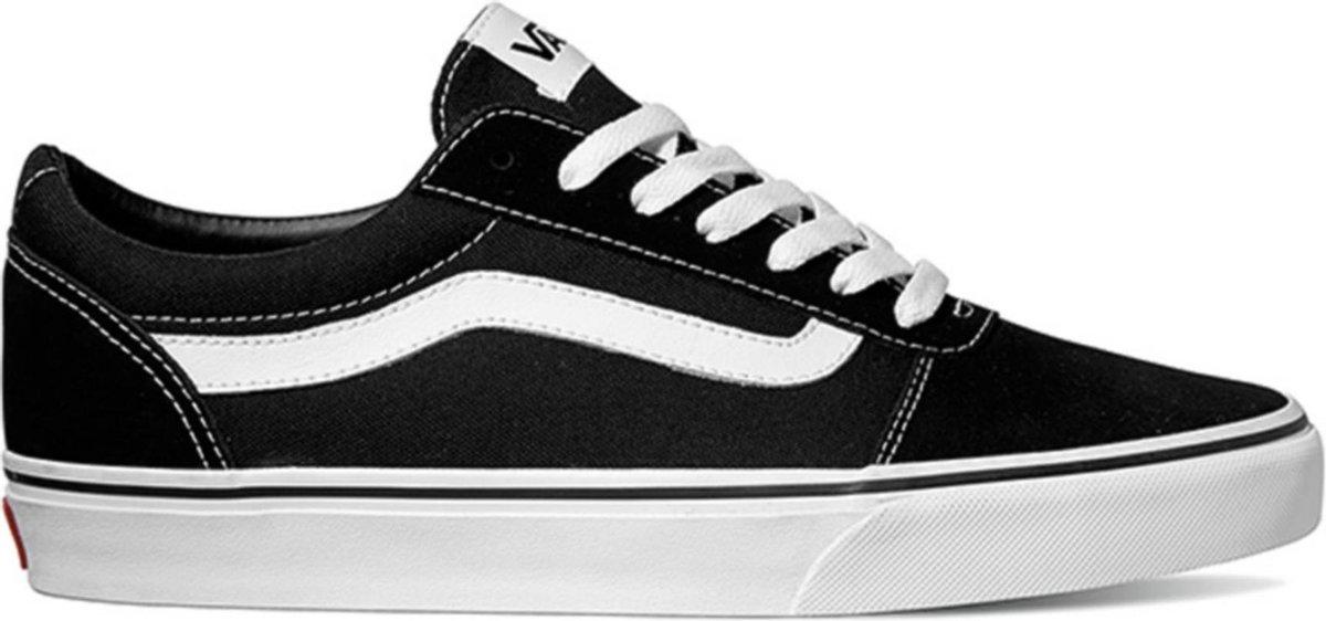 Vans Ward Suede Canvas Heren Sneakers - Black/White - Maat 43
