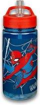 Spiderman Drinkbeker 500 ML - Beker - Rietjesbeker - Schoolbeker - Drinkbeker - Marvel - Rood - Lunchbeker - Waterfles- Schoollunch